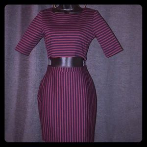 Dresses & Skirts - Striped cut out dress